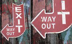 Exit Sign | Vintage Exit Sign | Arrow Exit Sign