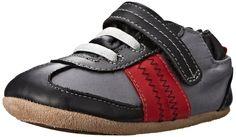 Robeez Soho Sneaker (Infant), Black, 12-18 Months M US Infant