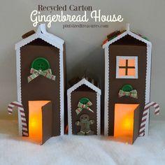 carton gingerbread house craft