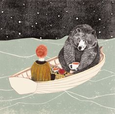Dutch illustrator Lieke van der Vorst. Lovely innocent illustrations.