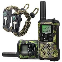Discounted Walkie Talkies for Kids 22 Channel 2 Way Radio 3 Miles Long Range Handheld Walkie Talkies Durable Toy Best Birthday Gifts for 6 Year Old Boys and Girls fit Outdoor Adventure Game Camping (Green Camo)  #48 #600 #608119394272 #Aikmi #Aikmi