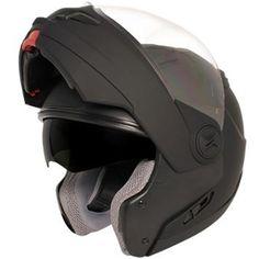 Hawk ST-1198 Transition 2 in 1 Flat Black Modular Helmet - LeatherUp.com