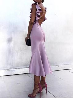 Buy Mermaid Bateau Criss Cross Lavender Cocktail Party Dress with Ruffles in the online store – Mode für Frauen Club Dresses, Short Dresses, Prom Dresses, Formal Dresses, Backless Dresses, Bandage Dresses, Wedding Dresses, Gown Wedding, Wedding Dress Bustle