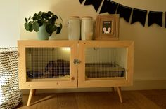 Small Pet Cages Diy Animals Ideas For 2019 Diy Bunny Cage, Diy Guinea Pig Cage, Guinea Pig Hutch, Bunny Hutch, Bunny Cages, Rabbit Cages, Rabbit Life, House Rabbit, Indoor Bunny House
