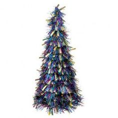Part of our Jewelled Yule Christmas theme, these tinsel Christmas trees are the perfect room decoration. Look out for our other products from this range.