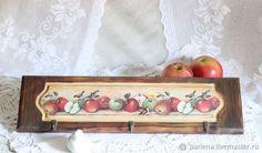 Кухня ручной работы. Ярмарка Мастеров - ручная работа. Купить Вешалка-панно для кухни Яблочный спас. Handmade. Кухня