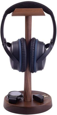Diy Headphone Stand, Headphone Holder, Tablet Holder, Audio Stand, Headset Holder, Wooden Speakers, Computer Desk Setup, Diy Wood Projects, Wooden Diy