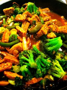 Tempeh stir fry {made tonight, SO good}