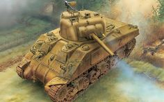 The Dragon Sherman Normandy from the plastic tank model range accurately recreates the real life US medium tank used during World War II. This plastic tank kit requires paint and glue to complete. Military Drawings, Tank Armor, Sherman Tank, War Thunder, Armored Fighting Vehicle, Ww2 Tanks, World Of Tanks, Military Art, Military Pins