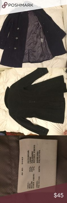 Wool pea coat Gray Andrew Marc wool coat. 75% wool. Warm and perfect for winter. Worn about 5 times so still in good condition. No rips or tears but the belt is missing. Jackets & Coats Pea Coats