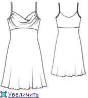 Sew a dress (or top) with drapery on the chest! Description + + finished circuit pattern .. Talk to LiveInternet - Russian Service Online Di ...