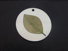 Leaf Fingerprint Pendant! Custom made with your own fingerprint!