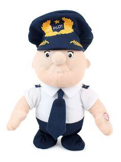 Walking Pilot Doll by Daron Parrot Drone, Cheap International Flights, Pilot Uniform, Aviation Fuel, Pilot Gifts, Plush Dolls, Stocking Stuffers, Kids Toys, Infant