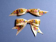 How to tie a patterned ribbon bow with all the right sides facing - hard to do actually on an object but relatively straight forward as a separate adornment.