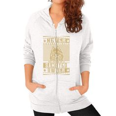 Never underestimate the power of a Samoyed Owner Zip Hoodie (on woman)