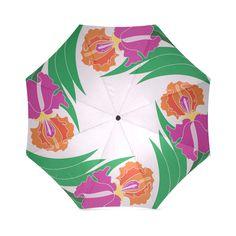 Iris Ring Pink Foldable Umbrella