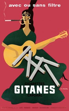 Vintage posters | Gitanes Cigarettes | classic posters