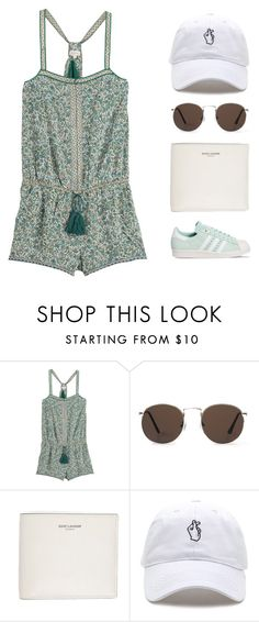 """""""Minty"""" by starit ❤ liked on Polyvore featuring Talitha, MANGO, Yves Saint Laurent and adidas"""
