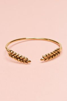 Wheat Bangle Bracelet...I absolutely would love to wear this as a Celiac...