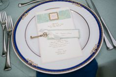 Wedding Menu and Place Card by Fort Lauderdale Invitations - Visit our website for ordering information or search for us on Etsy @ Milgrim Designs! Fort Lauderdale * Hollywood * Miami * Palm Beaches * We Ship across the USA!