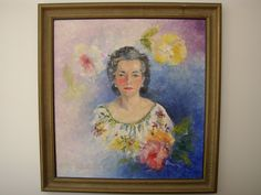 Alice Charlotte [Malhiot] Ross, painted by sister Marie. Earliest Canadian woman to graduate in architecture, 1910. Forms Ross Home Plans in 1948.