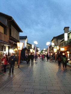 祇園 (Gion) in 京都府 - Kyoto's historic eating, drinking, and shopping district.  Walk down stone streets lined with wood-paneled shops.  You might see a geisha or two ...
