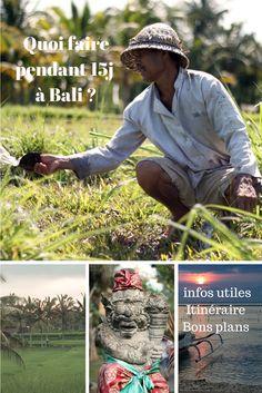 Dans cet article, mon conseil d'itinéraire à Bali en Indonésie, des informations et bons plans pour découvrir les différentes facettes de Bali en 15 jours.