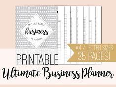 Ultimate Business Planner . Printable small business planner