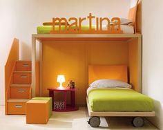 Etagen-Bett / modern / Holz / für Kinder (Jungen und Mächen)