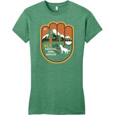 Women's 50/50 Heathered Kelly Green AltNPS T-shirt