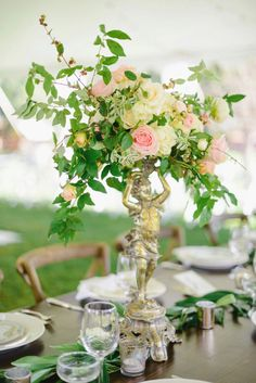Garden wedding centerpiece // See more: http://theeld.com/1z9rq7H