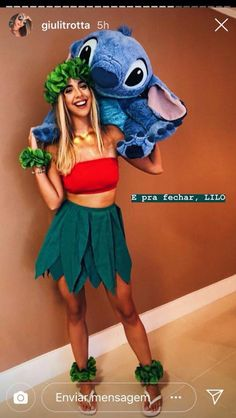 Carnaval Lilo& The post Carnaval & hiii appeared first on Halloween costumes . Best Group Halloween Costumes, Cute Costumes, Halloween Outfits, Simple Costumes, Lilo Costume Halloween, Diy Lilo Costume, Biker Halloween, Halloween College, Teen Costumes