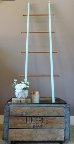Industrial Copper Pipe Decorative Ladder By Huelabdesigns On Etsy