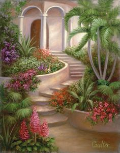 Paint Your Own Masterpiece on Canvas-Garden by craftitinc on Etsy