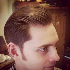 Executive Contour, styled with Shiner Gold Pomade. **closeup of a previously posted haircut** #shinergoldpomade #mjsolofa #mjsolofamensgrooming #mensgrooming #shaveparlor #berkeley #proper #gentleman #gentlemanscut #gentlemansbarber #dapper #sidepart #contour #combover #pompadour #ivyleague #oldschoolbarber #traditionalbarber #tonsorialartist #classicbarbering #supportyourlocalbarber #supportsmallbusiness #mensfashion #mensstyle #menshair #vintage #barbershop #barber #handlebarmustache