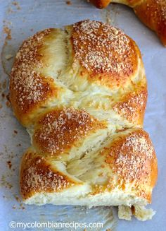 Pan Trenza (Braided Bread) Recipe on Yummly My Colombian Recipes, Colombian Food, Pan Bread, Bread Baking, Bread Recipes, Cooking Recipes, Braided Bread, Pan Dulce, Bread And Pastries