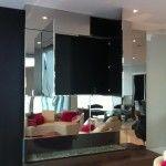 Sleek fireplace with mirror detail, Broken Down Designs, Toronto Fireplace Mirror, Make A Change, Toronto, Detail, Inspiration, Furniture, Design, Biblical Inspiration