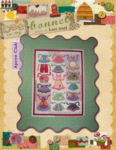 "Apron Club by Lori Holt. Pattern for 56""x68"" Applique Quilt $24.00 on Etsy at http://www.etsy.com/listing/100496542/apron-club?ref=shop_home_active"