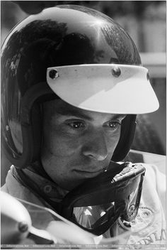 Jim Clark, seeing something the rest of us can't. Senna saw it, too.