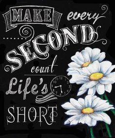 4-Inspirational-Chalkboard-Colorful-Flower-Art-Prints-Life-Lessons-8x10-Framed