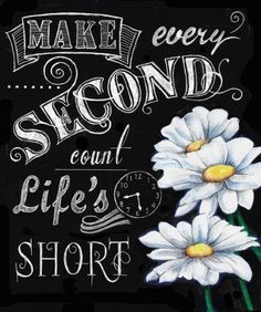 4-Inspirational-Chalkboard-Colorful-Flower-Art-Prints-Life-Lessons-8x10-Framed