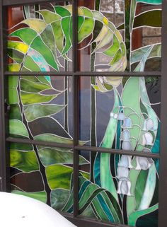 The Glass Cabin: Photo Stained Glass Flowers, Stained Glass Designs, Stained Glass Panels, Stained Glass Projects, Stained Glass Patterns, Leaded Glass, Stained Glass Art, Mosaic Art, Mosaic Glass