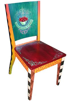 "Painted Chair; something to lust over but then decide, ""I can do that and will do that!"""
