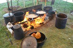 Chuck wagon cooking at CFD 2012