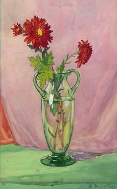 Raoul Martinez, Still Life with Chrysanthemums, 20th century