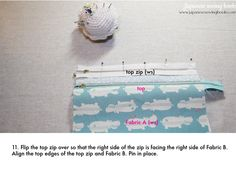 Free Sewing Pattern, Tutorial and Video – Double zip pouch   Japanese Sewing, Pattern, Craft Books and Fabrics