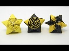 Origami Straw Star - YouTube video showing how to make a different kind of origami star