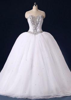 Gorgeous Sweetheart Wedding Dresses Princess Ball Gown Wedding  #BridalDresses #WeddingGowns #Wedding #WeddingDresses