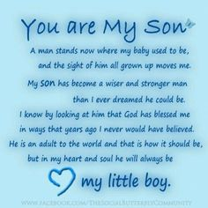 my son quotes | To my son's | sayings and quotes                                                                                                                                                      More