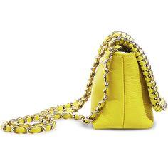 Steve Madden Women's Bcharlez Handbag (66 BRL) ❤ liked on Polyvore featuring bags, handbags, yellow, white hand bags, quilted handbags, yellow purse, steve madden purses and yellow handbags